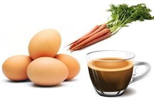 gulrot egg kaffe